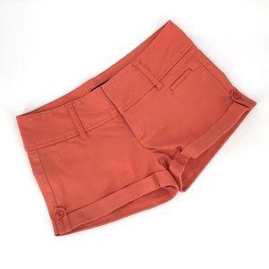 Guess Salmon Pink Cuffed Shorts, 28